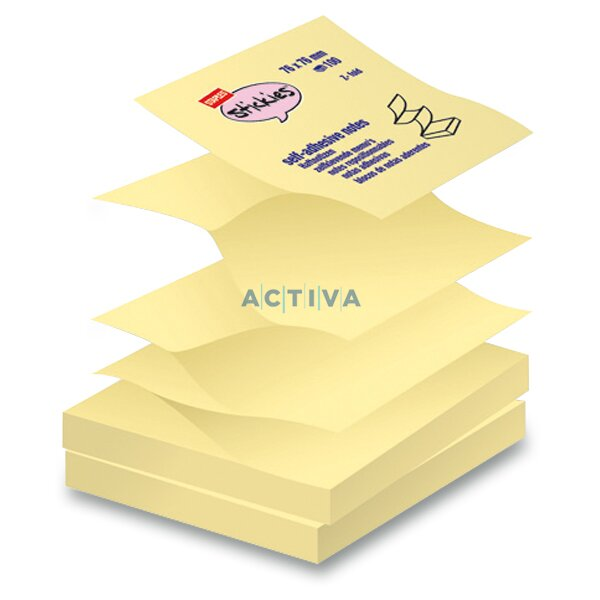 staples yellow sticky notes self adhesive pads activa