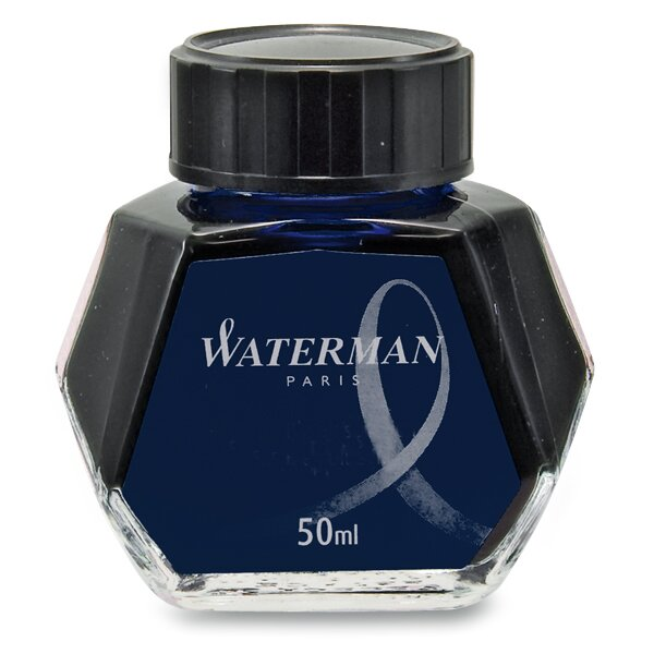 Lahvičkový inkoust Waterman modročerný