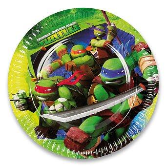 Obrázek produktu Papírové talířky Želvy Ninja - průměr 23 cm, 8 ks