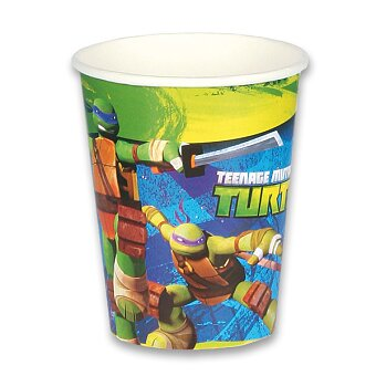 Obrázek produktu Papírové kelímky Želvy Ninja - objem 0,25 l, 8 ks