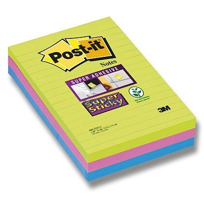 Obrázok produktu 3M Post-it 660 Super Sticky - silne lepiaci bloček - 101 x 152 mm, 3 x 30 l., linajkový
