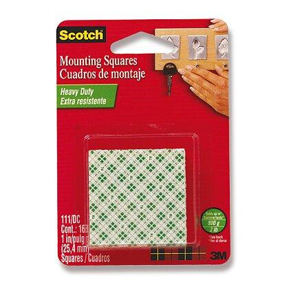 Obrázek produktu 3M Scotch - oboustranně lepicí čtverečky - 25,4 mm × 25,4 mm, 16 ks