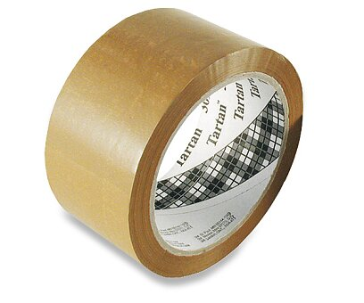 Obrázek produktu Balicí páska 3M Tartan - 75 mm x 66 m, hnědá
