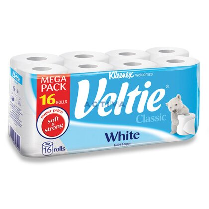 Obrázek produktu Veltie Classic - toaletní papír - 2-vrstvý, 144 útržků, 16 ks
