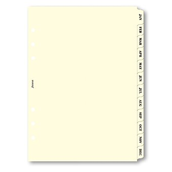 Obrázek produktu Krajové výřezy, měsíce - náplň A5 k diářům Filofax