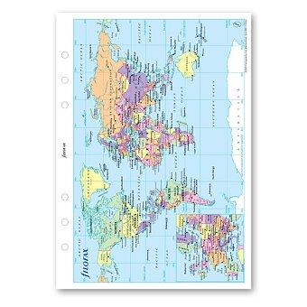 Obrázek produktu Mapa - náplň A5 k diářům Filofax