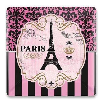 Obrázek produktu Papírové talířky Paris - 25,4 x 25,4 cm, 8 ks