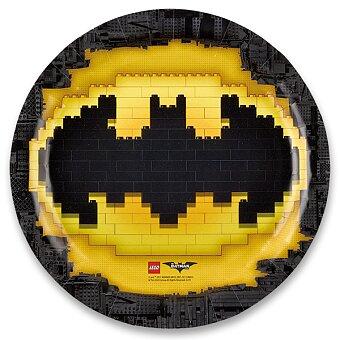 Obrázek produktu Papírové talířky Lego Batman - průměr 23 cm, 8 ks