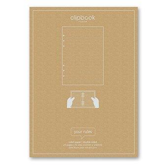 Obrázek produktu Linkovaný papír - náplň bloků A5 Filofax Clipbook