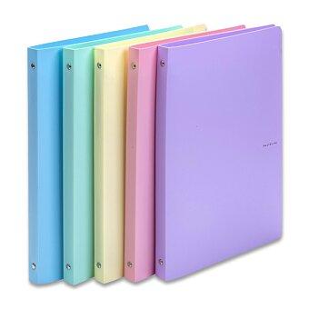 Obrázek produktu 4-kroužkový pořadač PP Karton Pastelini - plast, A4, 20 mm, výběr barev