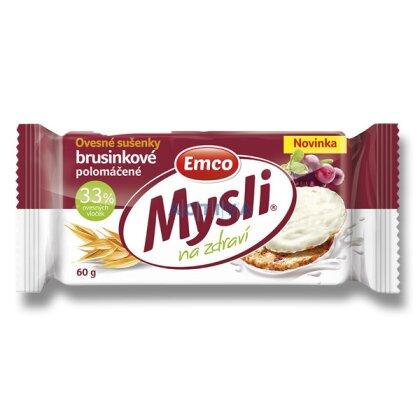 Obrázek produktu Emco - cereální sušenky - brusinkové s jougurtovou polevou, 60 g