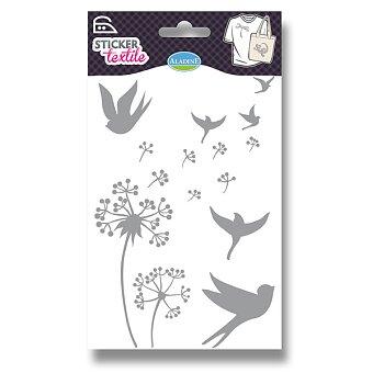 Obrázek produktu Nažehlovací nálepky na textil - Ve větru - glitrové