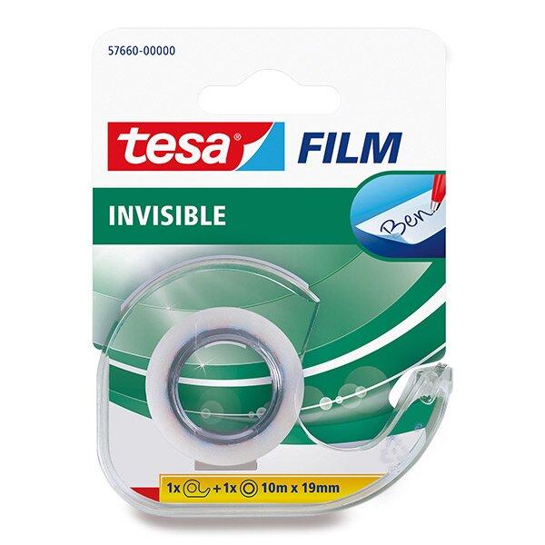 Samolepicí páska Tesa Film Invisible 19 mm x 10 m, s odvíječem