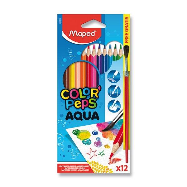 Pastelky Maped Color'Peps Aqua 12 barev + štětec