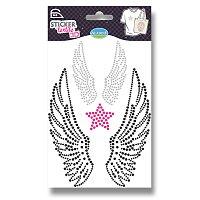 Nažehlovací nálepky na textil 3D - Andělská křídla
