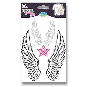 Obrázek produktu Nažehlovací nálepky na textil 3D - Andělská křídla