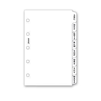 Obrázek produktu Krajové výřezy, A-Z, bílé - náplň mini diářů Filofax