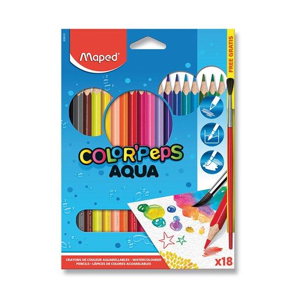 Pastelky Maped Color'Peps Aqua 18 barev + štětec