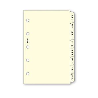 Obrázek produktu Krajové výřezy, A-Z, krémové - náplň mini diářů Filofax