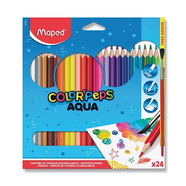 Pastelky Maped Color'Peps Aqua 24 barev + štětec