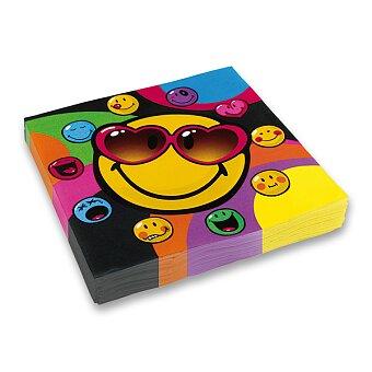 Obrázek produktu Papírové ubrousky Smiley - 33 x 33 cm, 20 ks