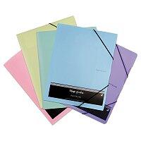 Tříchlopňové desky s gumičkou PP Karton Patelini
