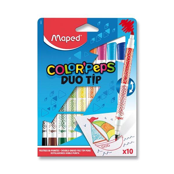 Dětské fixy Maped Color'Peps Duo Tip 10 oboustranných fixů