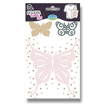 Obrázek produktu Nažehlovací nálepky na textil 3D - Motýli