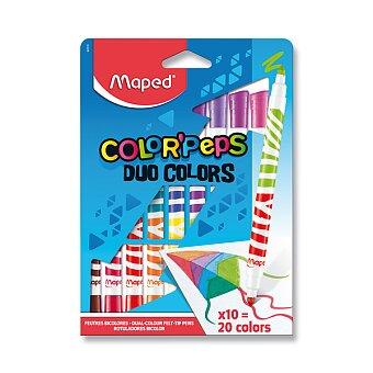 Obrázek produktu Dětské fixy Maped Color'Peps Duo - 10 oboustranných fixů
