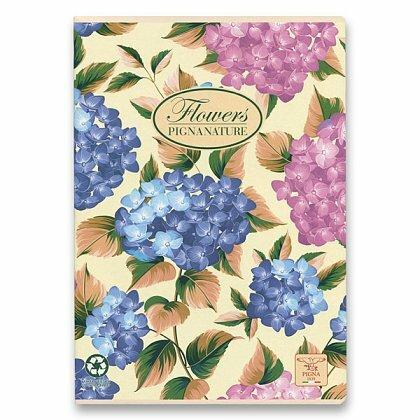 Obrázok produktu Pigna Nature Flowers - zošit - A4, 40 l., linajkový