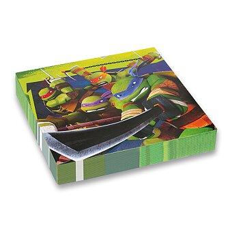 Obrázek produktu Papírové ubrousky Želvy Ninja - 33 x 33 cm, 20 ks