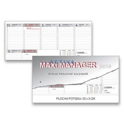 Obrázek produktu Maxi Manager 2019 - stolní pracovní kalendář