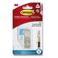 Silně lepící voděodolný kovový háček 3M Command 17081