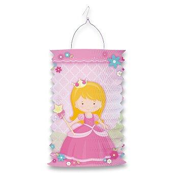 Obrázek produktu Papírový lampion Princezna - délka 28 cm