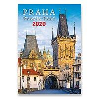 Nástěnný obrázkový kalendář Praha 2020