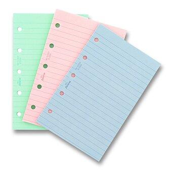 Obrázek produktu Poznámkový papír, linkovaný, 3 barvy - náplň mini diářů Filofax