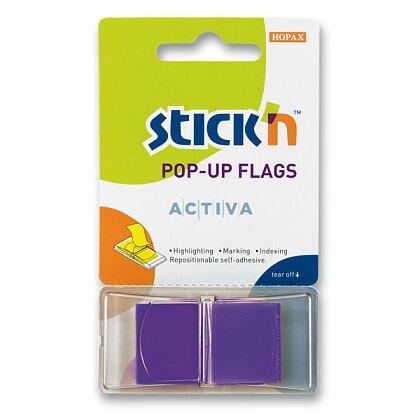 """Obrázek produktu Hopax Stick'n PopUp Flags - neonové proužky """"Z"""" - fialové"""