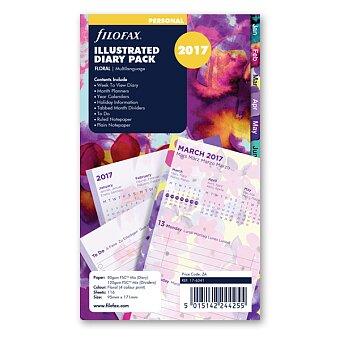 Obrázek produktu Floral 2017 - náplň osobních diářů Filofax