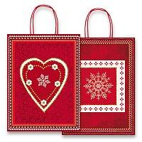 Vánoční dárková taška Sadoch Fantasia Red & White
