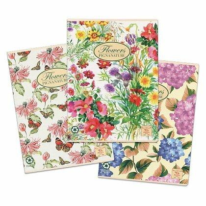 Obrázok produktu Pigna Nature Flowers - zošit - A5, 40 l., linajkový