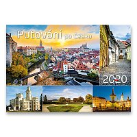 Nástěnný obrázkový kalendář Putování po Česku 2020