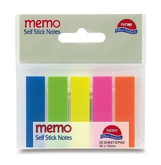 Obrázek produktu Samolepící záložky Film Index - plast, 45 x 12 mm, 5 barev po 25 ks