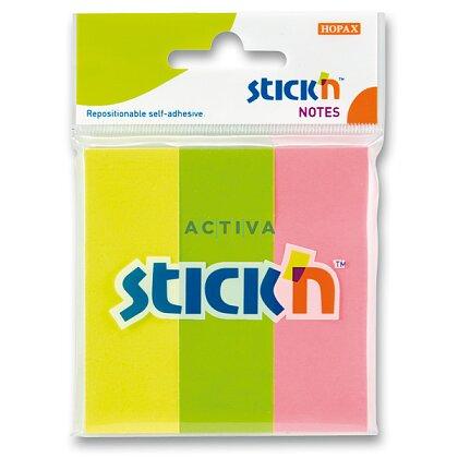 Obrázek produktu Hopax Stick'n Neon Notes - samolepicí záložky - 76x25 mm, 3x50 l.