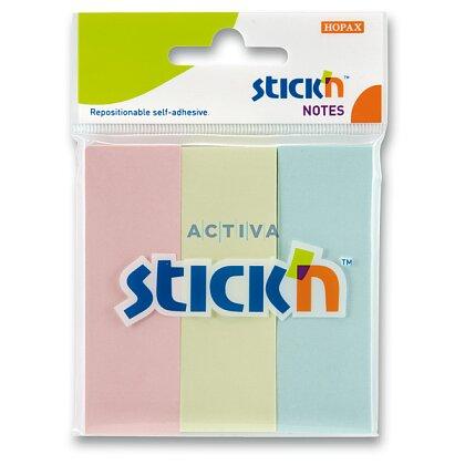 Obrázek produktu Hopax Stick'n Pastel Notes - samolepicí záložky - 76x25 mm, 3x50 l.