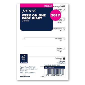 Obrázek produktu Týdenní kalendář 2017, Aj, týden-strana - náplň kapesních diářů Filofax