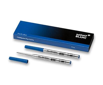 Obrázek produktu Náplň Montblanc do kuličkové tužky - F, 2 ks, modrá