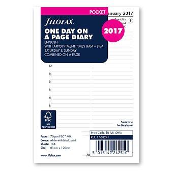 Obrázek produktu Denní kalendář 2017, Aj - náplň kapesních diářů Filofax