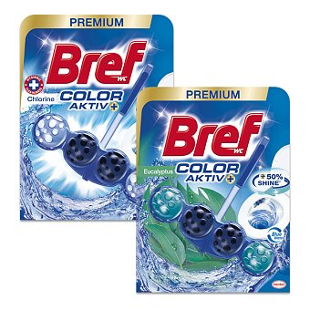 Obrázek produktu WC blok Bref Blue Aktiv - 50 g, výběr vůní