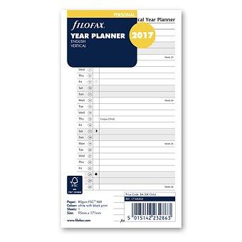 Obrázek produktu Plánovací kalendář 2017, Aj, vertikální - náplň osobních diářů Filofax