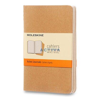 Obrázek produktu Sešit Moleskine Cahier - 9 x 14 cm, linkovaný, 3 ks, karton